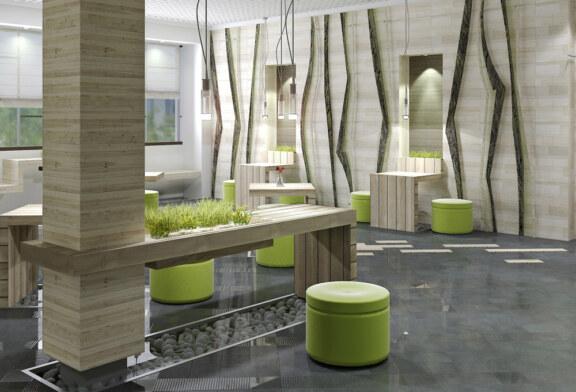 Оформленный в стиле эко интерьер дома