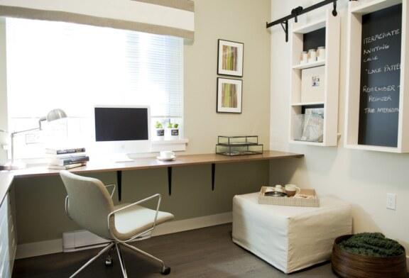 Когда нет домашнего офиса, можно оформить рабочий уголок в квартире