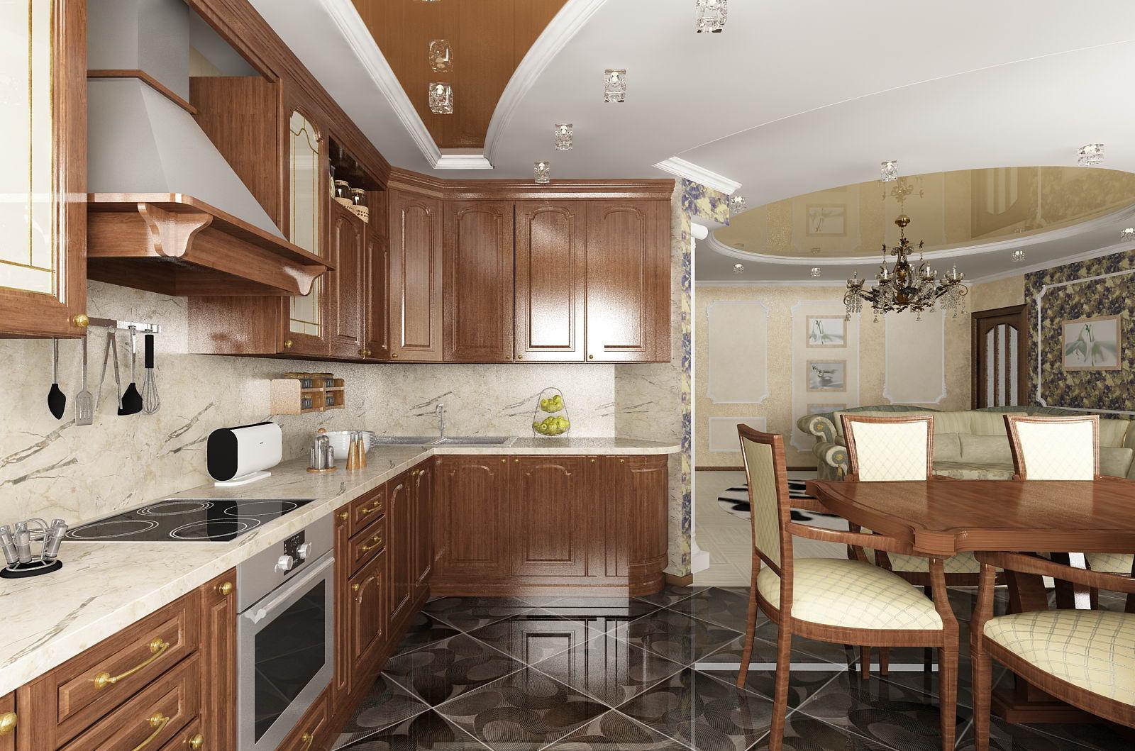 Кухня столовая и гостиная дизайн