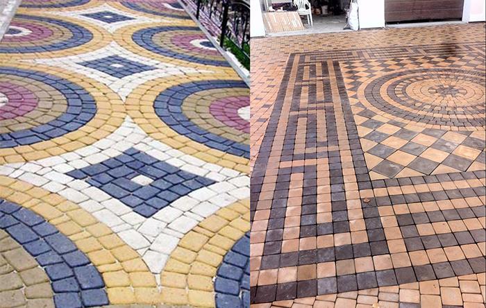 Принципы укладки тротуарной плитки